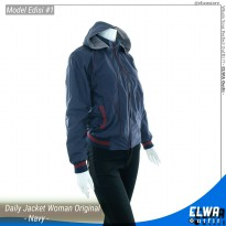 NEW Edisi 1 - Jaket Motor Wanita Jaket Harian Anti Air Original Navy