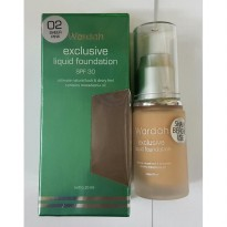 Wardah Exclusive Liquid Foundation Spf 30 isi Netto 20 ml.