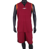 Proteam Jersey 3Line BBall Maroon-Orange