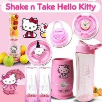 Shake n Take Hello Kitty 2 cup/gelas Juicer Blender Kitty Blend and Go