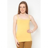 Mobile Power Ladies Big Brocade Tanktop - Yellow I6674