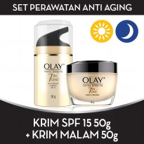 Set Perawatan Anti Aging (7in One Anti-ageing Night Cream 50gr+7in One Day Cream Normal SPF 15 50gr)