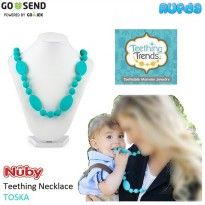Nuby Teething Necklace TOSKA Kalung Gigitan Bayi Bahan Silicone