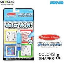 Colors and Shapes - Melissa & Doug Water Wow Mainan Edukasi