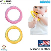 Life Factory Silicone Teether Made in USA LifeFactory Gigitan Bayi
