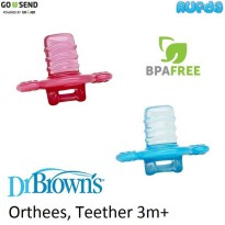 Dr Browns Orthees Transition Teether Gigitan Bayi 3m Brown's