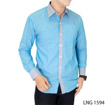 Casual Shirts For Mens Katun Blue – LNG 1594