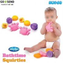 (Girl) Playgro Bathtime Bath Time Squirties, Mainan Bayi di Air /Mandi