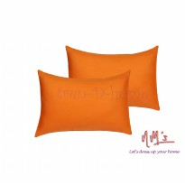 Tren-D-home - Sarung Bantal Polos 50 cm x 70 cm isi 2pcs - Orange