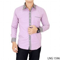 Man Casual Shirt Katun Purple – LNG 1596