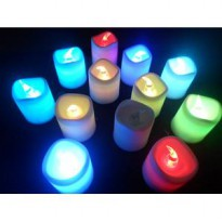 Lilin Elektrik Mini Menyala 7warna seven colours natal christmas night