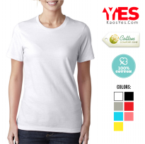 #KaosYES Premium 100% Cotton# Kaos Polos T-Shirt WANITA / LADIES