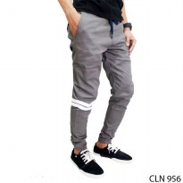 Celana Jogger Pants Stretch Grey – CLN 956