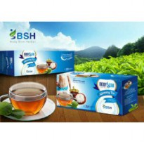Body Slim Herbal Slimming Tea (BSH Tea) , Original, New Pack (Depkes)