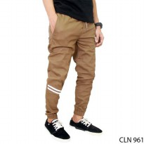 Celana Jogger Panjang Stretch Brown – CLN 961