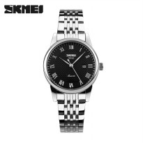 Jam Tangan Analog Wanita SKMEI Original Model 9058 Stainless Strap