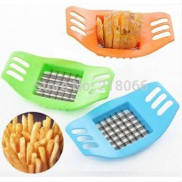 [globalbuy] 2Pcs Stainless Steel Potato Cutting Device KFC Fries Cut Filter Kitchen Tools/3357470