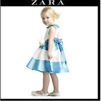 Dress anak perempuan / dress anak ZARA blue / dress anak import