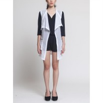 V By Silvy Perforated Vest White
