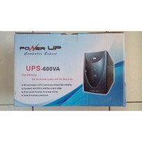 Hot Deal's UPS POWER UP 600VA - UPS 600VA + Stabilizer GARANSI 1 TAHUN