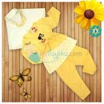 Kiddie Wear Moslem Barbie Size M Color Yellow For Girls Age 6M - 9M
