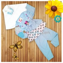 Kiddie Wear Moslem Micky Mouse Size S Color Blue For Girls Age 3M - 6M