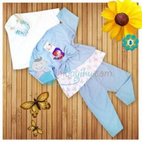 Kiddie Wear Moslem Masha And The Bear Size S Color Blue For Girls Age 3M - 6M
