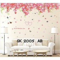 Stiker Dinding Ukuran 2x60x90cm Sakura Mood For Love