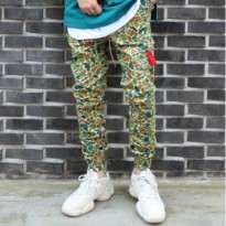 [LAUL] COMFORTABLE DUCK CAMO JOGGER PANTS