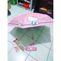 Promo! IBS Payung Kecil Lipat Pensil Minimalis Hello Kitty Sanrio Pocket Umbrella