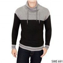 Sweater Model Harajuku Rajut Black Grey – SWE 691