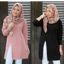 SLIT DRESS SWEATER PREMIUM TEBAL | Atasan Knitwear ! Dress rajut