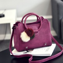 FREE DELIVERY PROMO TAS FASHION #ELV82941 ADA POMPOM DAN TALI PANJANG 100% HIGH QUALITY IMPORT