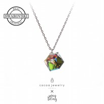 Cocoa Jewelry Magic Square Necklace Rainbow / Kalung Swarovski | Genuine Swarovski Crystal - No Box