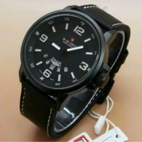 Jam Tangan Pria Naviforce Day Date Leather Black OriginaLL(gshock/digitec/fossil/rolex)