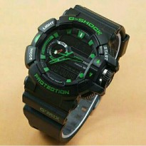 Jam Tangan Pria G-Shock GBA400 Dualtime Black Green(fossil/rolex/guess/swiss army)