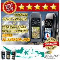 Hot Deal's ORIGINAL GPS GARMIN 78S MURAH/ GPSMAP Si/ 78Si + Peta Indonesia