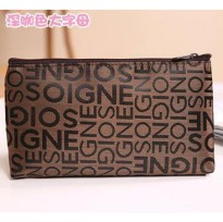 Tas Kosmetik Korea Motif Abjad / Korean Cosmetic Bag A266
