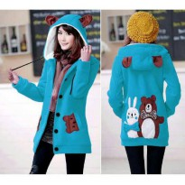 Jaket Wanita Funny Bear & Rabbit Turkish