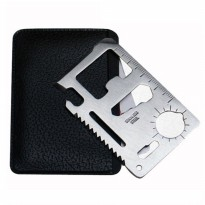 IBS Solid Wallet EDC 11 in1 Multi Purpose Credit Card Sized Pocket Tool
