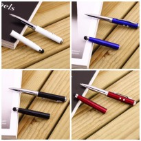 IBS 5 in 1 Stylus pad Capacitive Touch Pen Ballpoint  Laser Pointer Senter