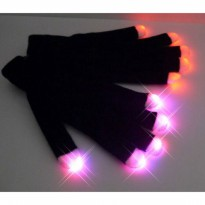 IBS Sarung Tangan LED senter Glove Party Safety Konser Colorful LED Light