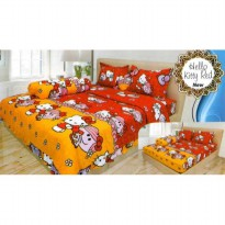 Hot Deal's Sprei Internal Lady Rose Katun Micro Disperse 120 - Hello Kitty Red