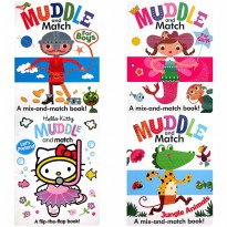 [HelloPandaBooks] Muddle & Match Book - Mix-And-Match Board Book - Melatih Logika Anak