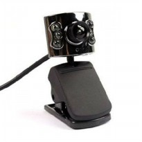 M-Tech Webcam 6 Lampu - Hitam