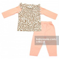 Cribcot TPS Long Peach Leopard