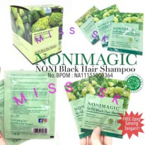 [ 1 box isi 20 sachet ] New Nonimagic black hair shampo BPOM