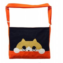 Bugs Cat C/H canvas sling bag - Orange/Blue/Pink/Red