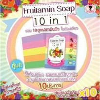 Fruitamin Soap 10 in 1 Wink White Sabun Gluta Vitamin Buah