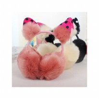 HO5186W - Earmuffs / Penutup Telinga Fashion Fur Ball